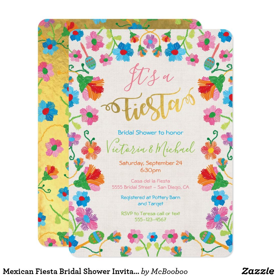 636c694a0334 Mexican Fiesta Bridal Shower Invitations It s a Fiesta with this pretty and  colorful Mexican Fiesta Bridal