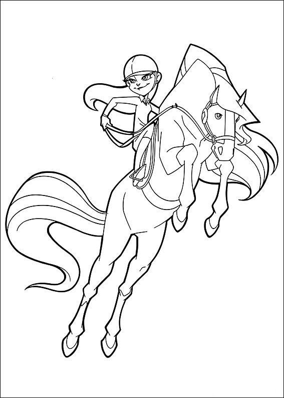 Horseland Fargelegging for barn. Tegninger for utskrift og ...