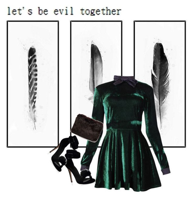 """""""let's be evil together"""" by lipstickytoffee ❤ liked on Polyvore featuring мода, Valfré и Rut&Circle"""