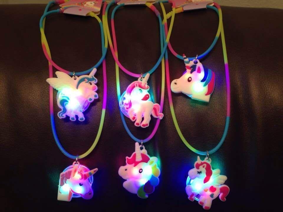 Toys for Girls 5 6 7 8 9 10 11 12 Year Old Unicorn Necklace LED LIGHT Kids Gift