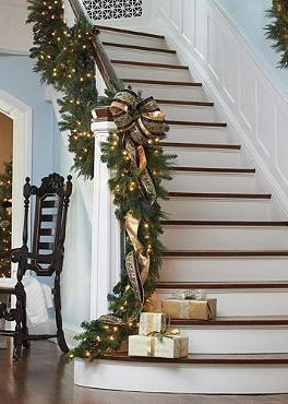 Ideal For Indoor Or Outdoor Decor The Majestic Double Sided Pre Lit Garland D Elegantly Atop Your Mantle Down A Staircase Above Doorway And