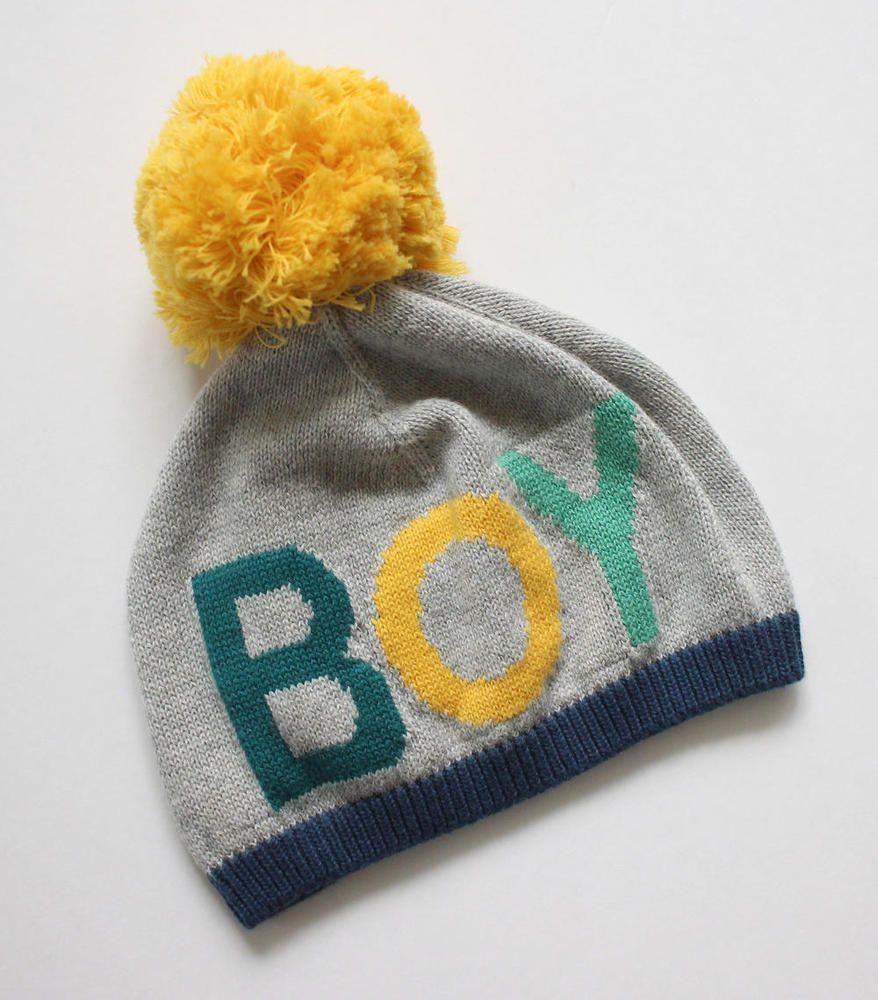Baby Gap Boys Gray Pom Pom