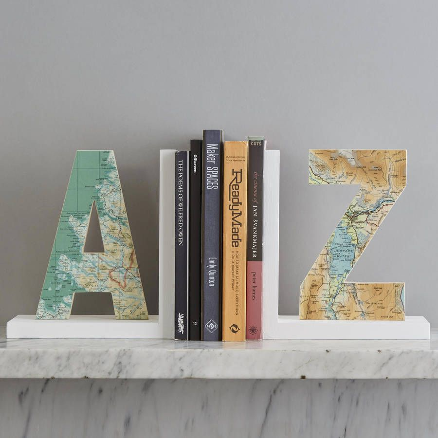Home Decorators Location: Personalised Map Location Letter Bookend
