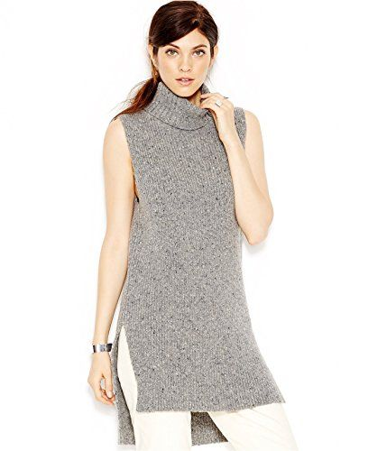af06f44f3ac34b Rachel Rachel Roy Sleeveless Ribbed Turtleneck Large Heather Grey -- Read  more reviews of the product by visiting the link on the image.
