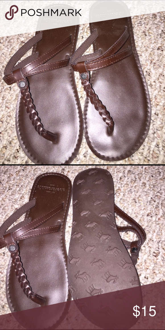 3a24ca77318 Abercrombie flips New never worn. Faux Leather braid down center strap.  These are super cute. Abercrombie   Fitch Shoes Sandals