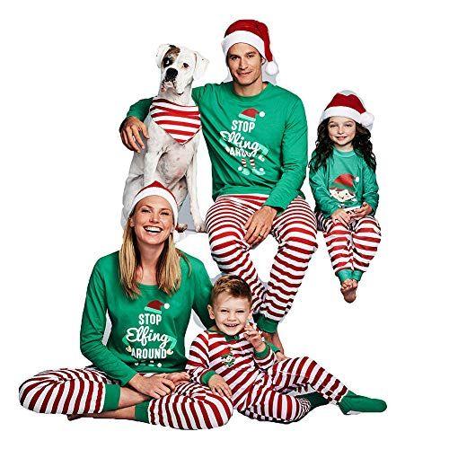 f1aa8fa5b1b3a ICYMI  Hibote Ensemble de Pyjamas de Noël Assortis Famille – Papa Maman  Enfants vêtements de