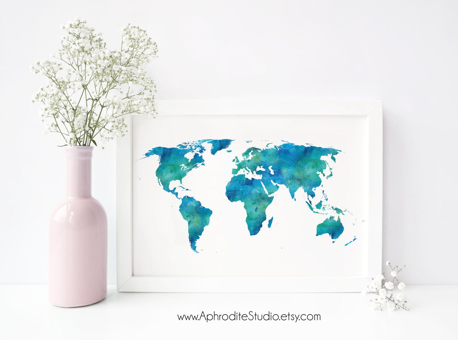 World map print 24x36 world printable poster travel decor world map print 24x36 world printable poster travel decor gift wedding guest bookworld gumiabroncs Image collections