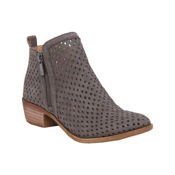 Women's Lucky Brand Basel Bootie - Dark Stone Nubuck Casual ($139) ❤ liked  on