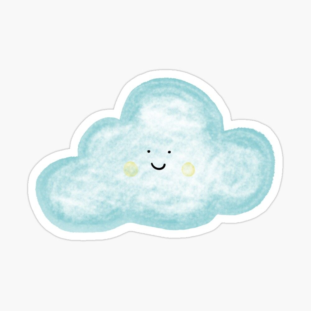 Happy Cloud Sticker by sylviabosky   Cloud stickers, Stickers ...