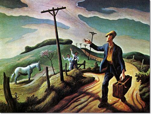 Thomas Hart Benton The Boy 1950 Painting Thomas Hart Benton American Art Thomas Hart Benton Paintings