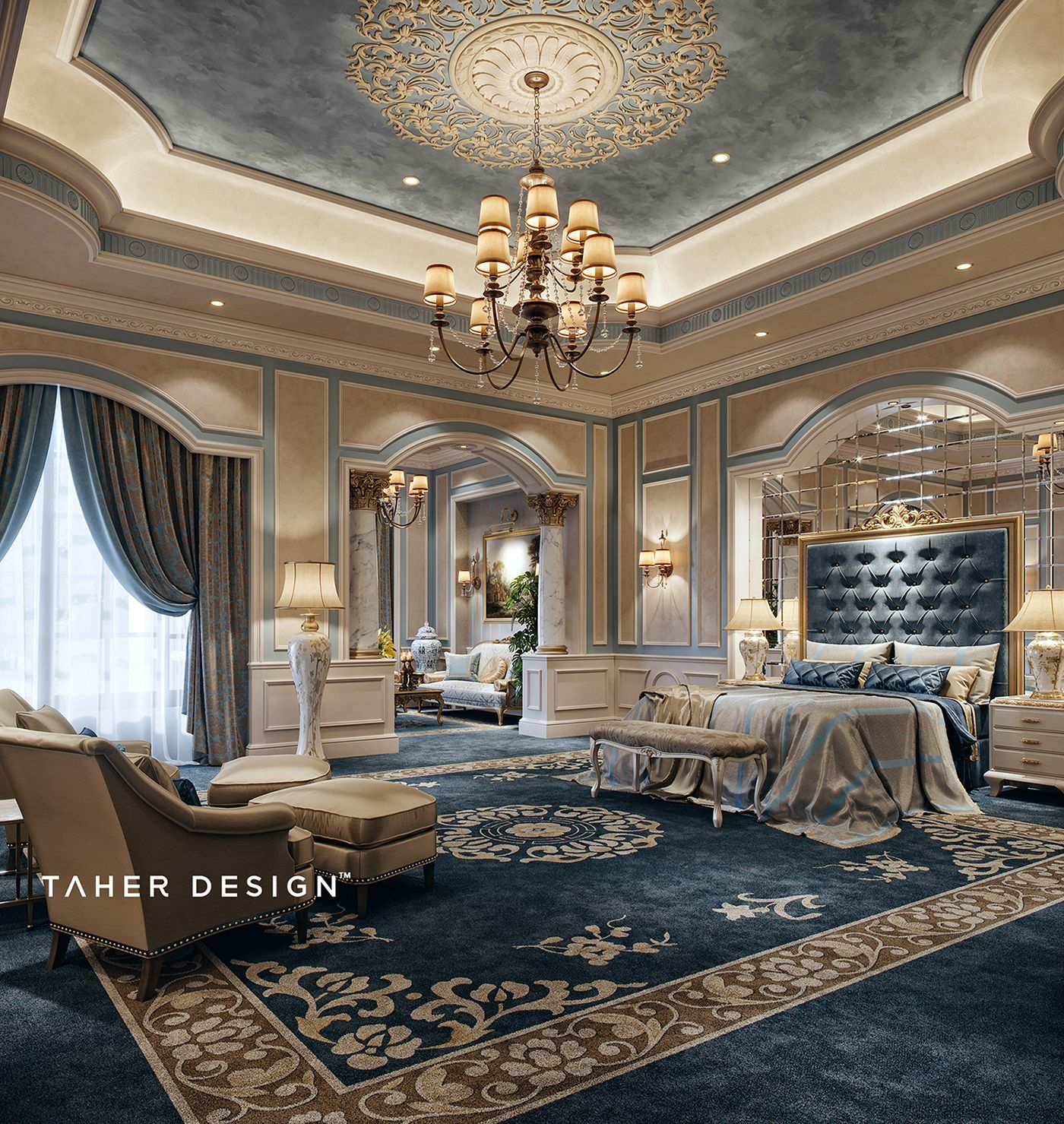 Luxury master bedroom dubai on behance dream house in - Interior decorations for bedrooms ...