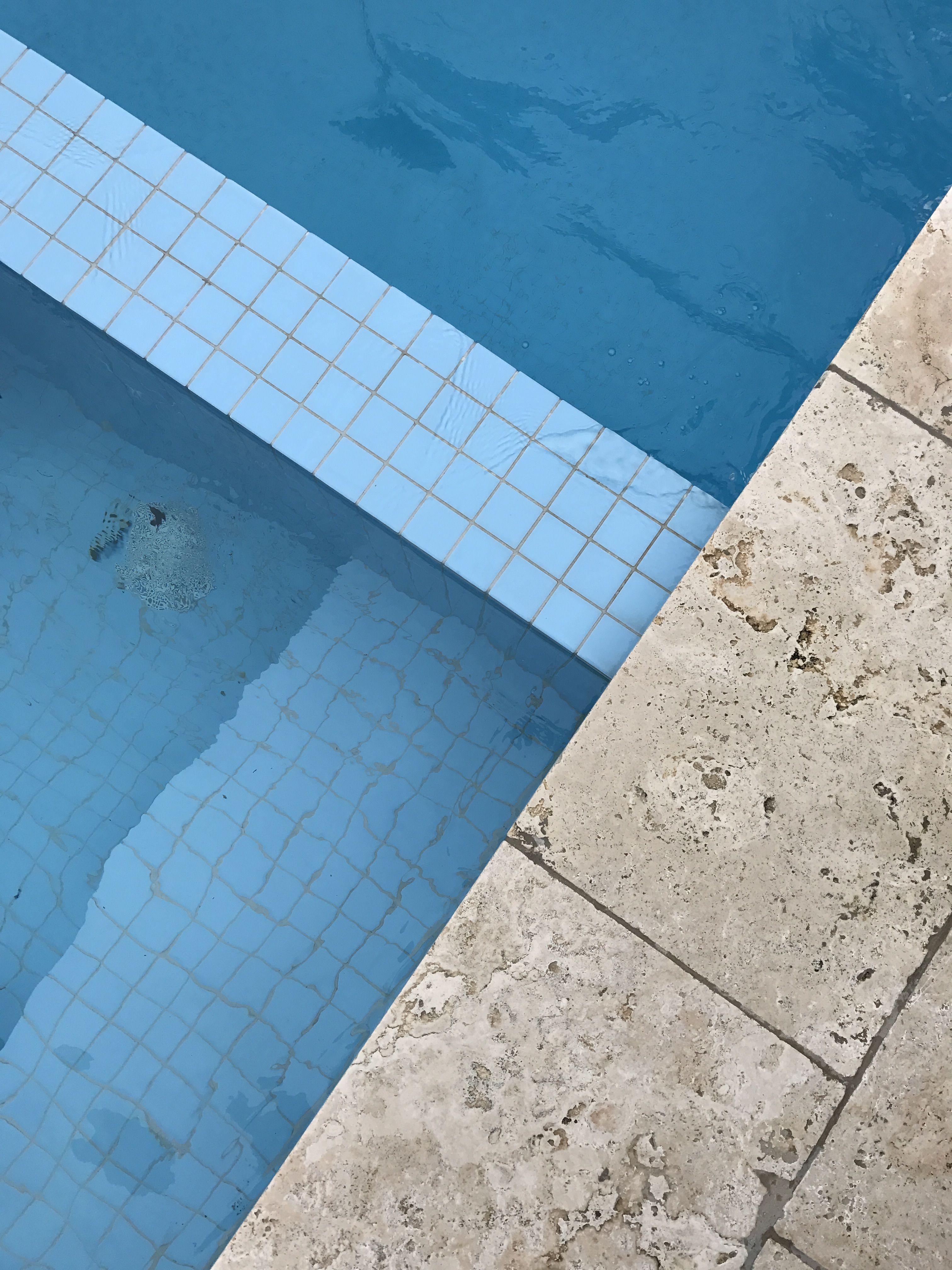 Blue | Pool tile & Travertine | BLUE | Pinterest | Blue pool ...
