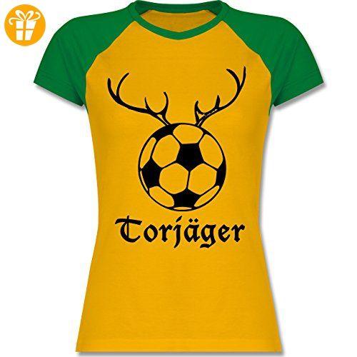 Fußball - Torjäger - M - Gelb/Grün - L195 - zweifarbiges Baseballshirt /  Raglan