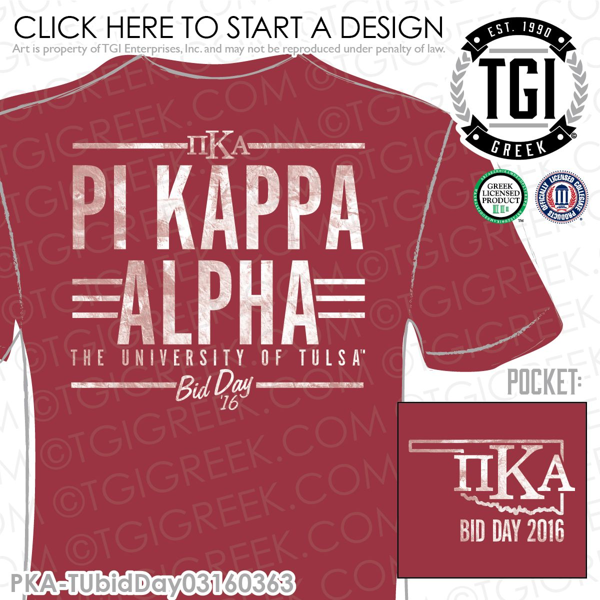 tgi greek - pi kappa alpha - rush - recruitment - greek apparel