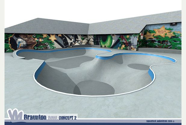 Proposed idea of what  Braunton's new skate bowl will look like. North Devon.