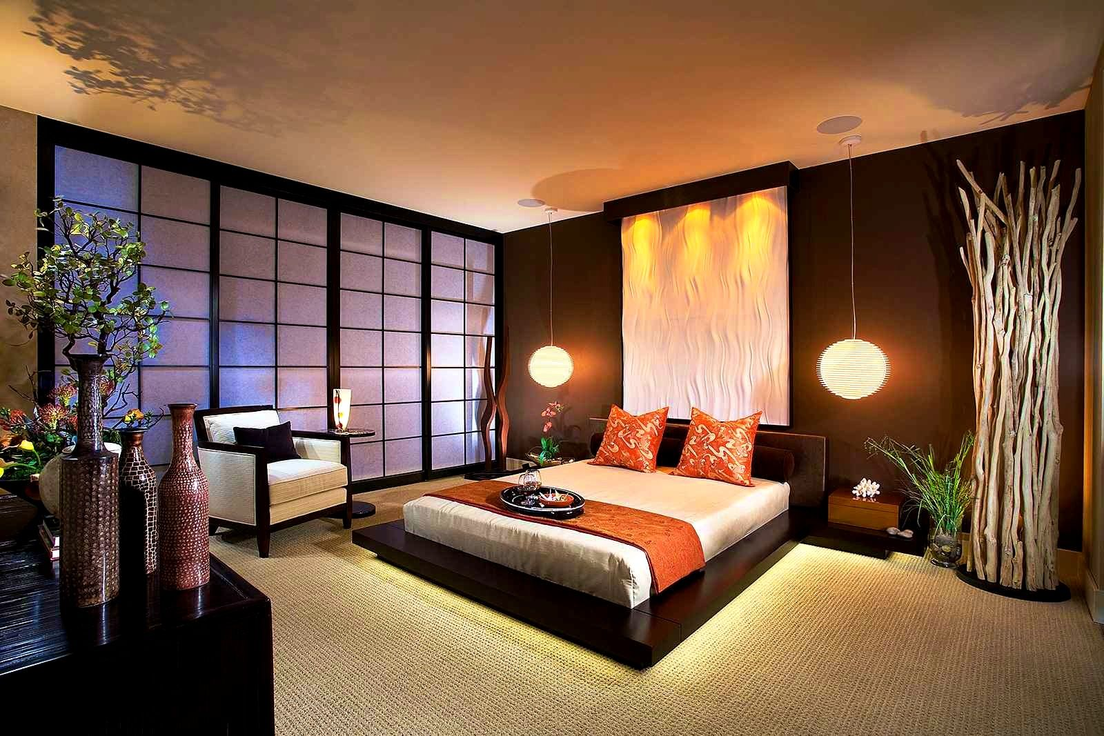 Bathroom Inspiring Five Great Bedroom Themes For Your House Asian Themed Sets Brown Co Japanese Style Bedroom Japanese Inspired Bedroom Modern Bedroom Interior