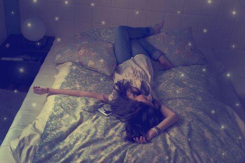 reflexionar en la cama