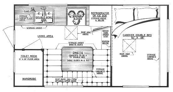 Camper plans: Cascade design 9\' truck camper | Camper layout ...