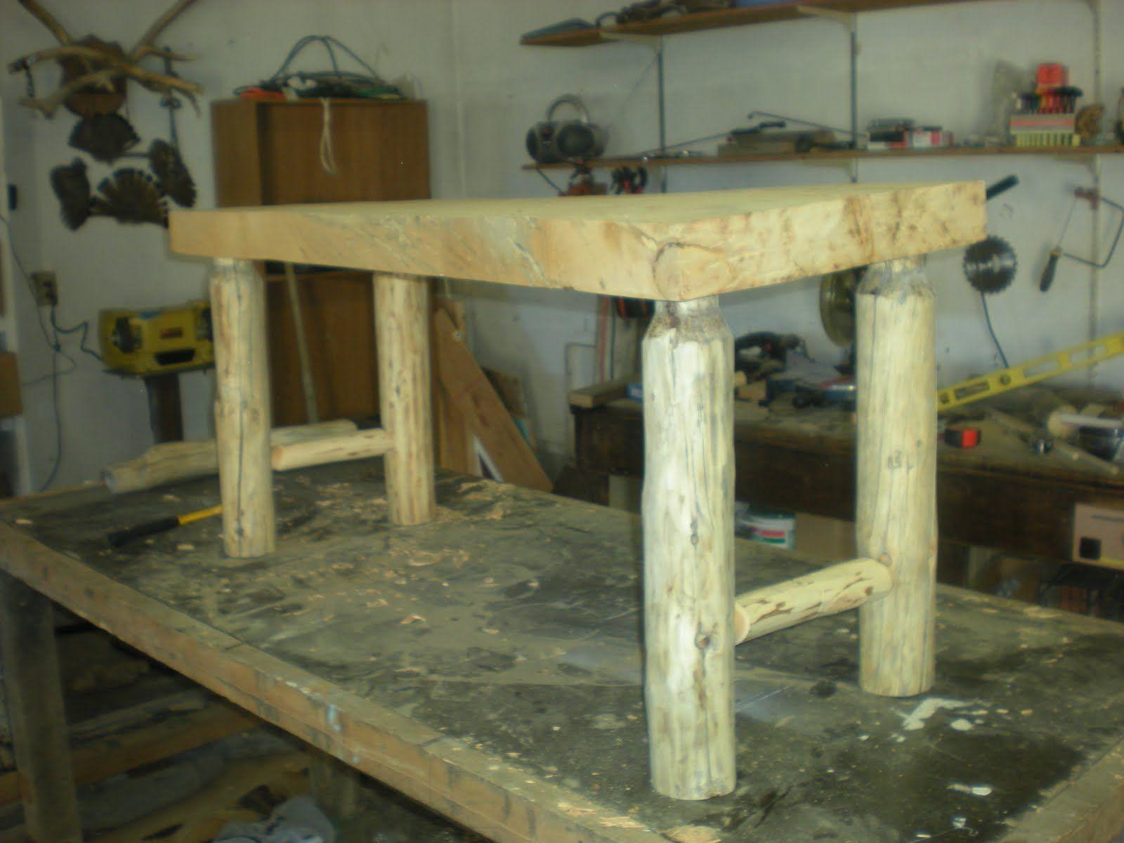 The Paisley Cupcake Lovely Log Bench Log Bench Log Furniture Wooden Crafts