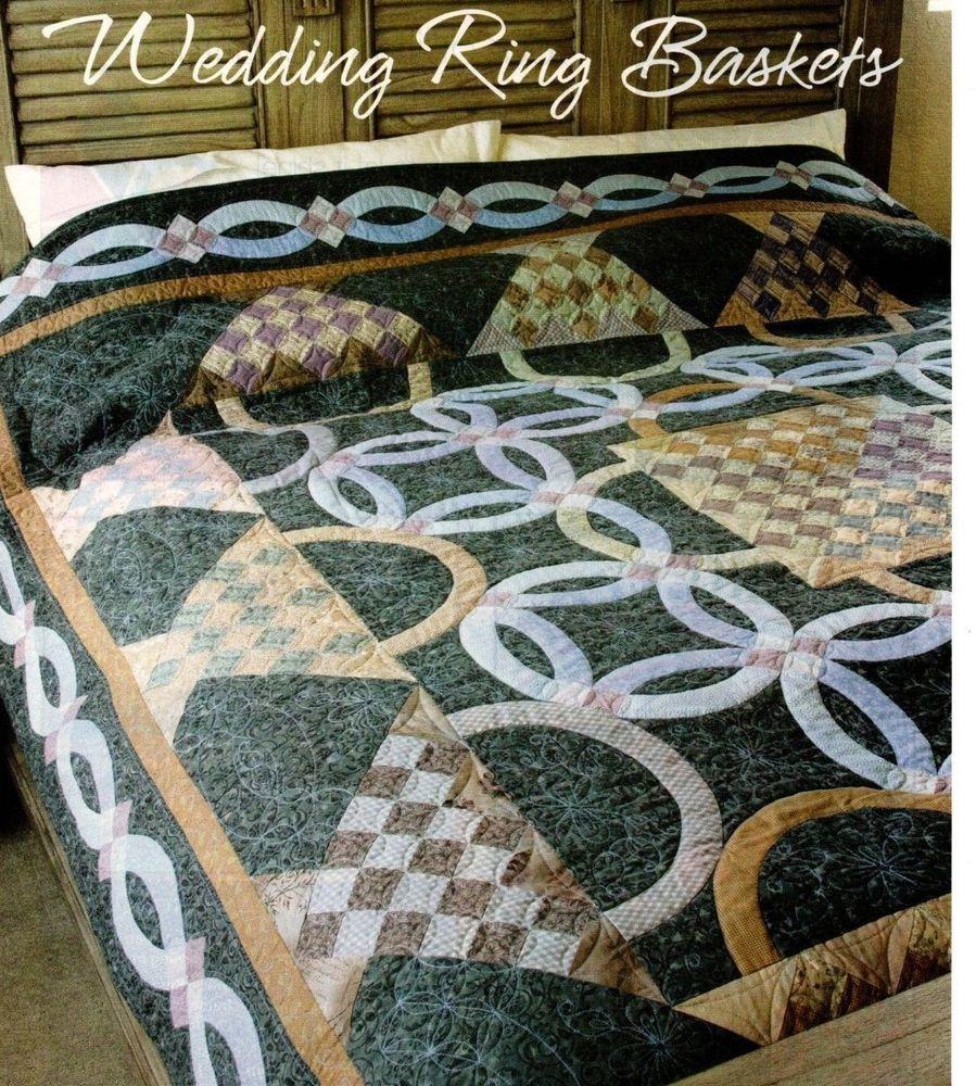 Wedding Ring Baskets Quilt Pattern Pieced/Applique TE