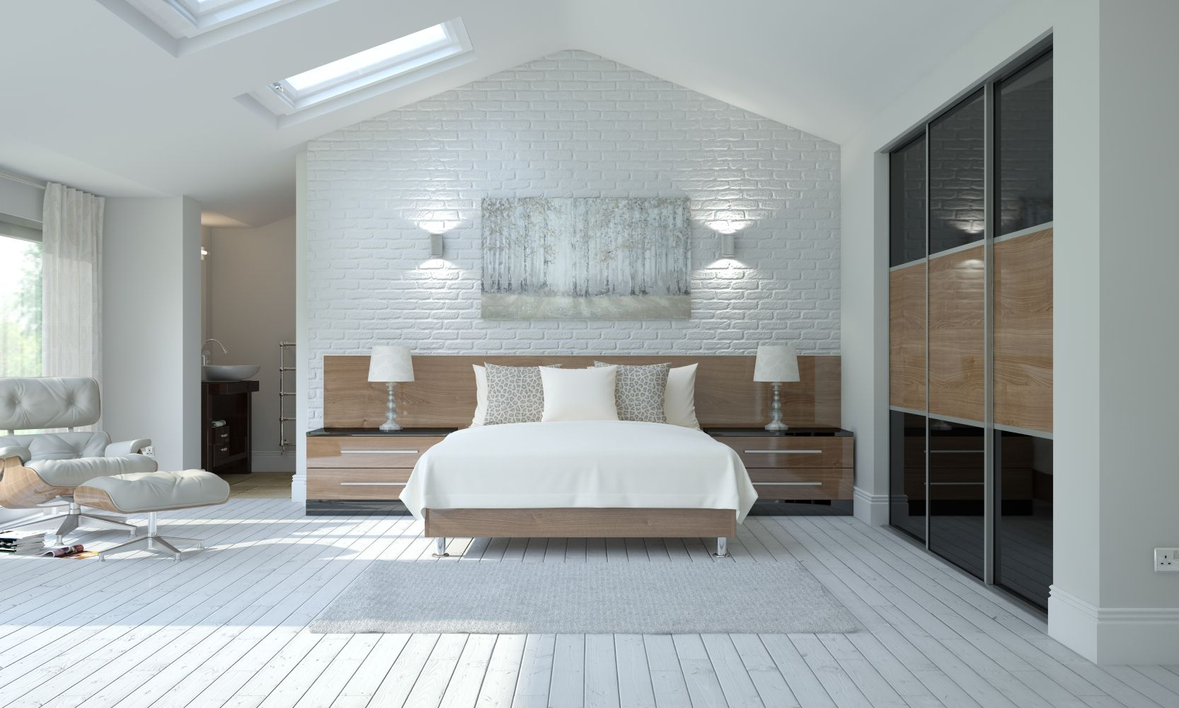 Built in wardrobe and back wall Interior design, New