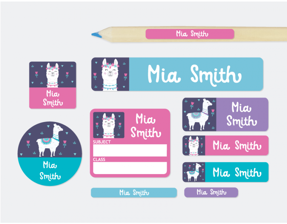 Kids Name Labels Designer School Labels Combo Pack Etiquetas De Colegio Etiquetas Para Cuadernos Actividades