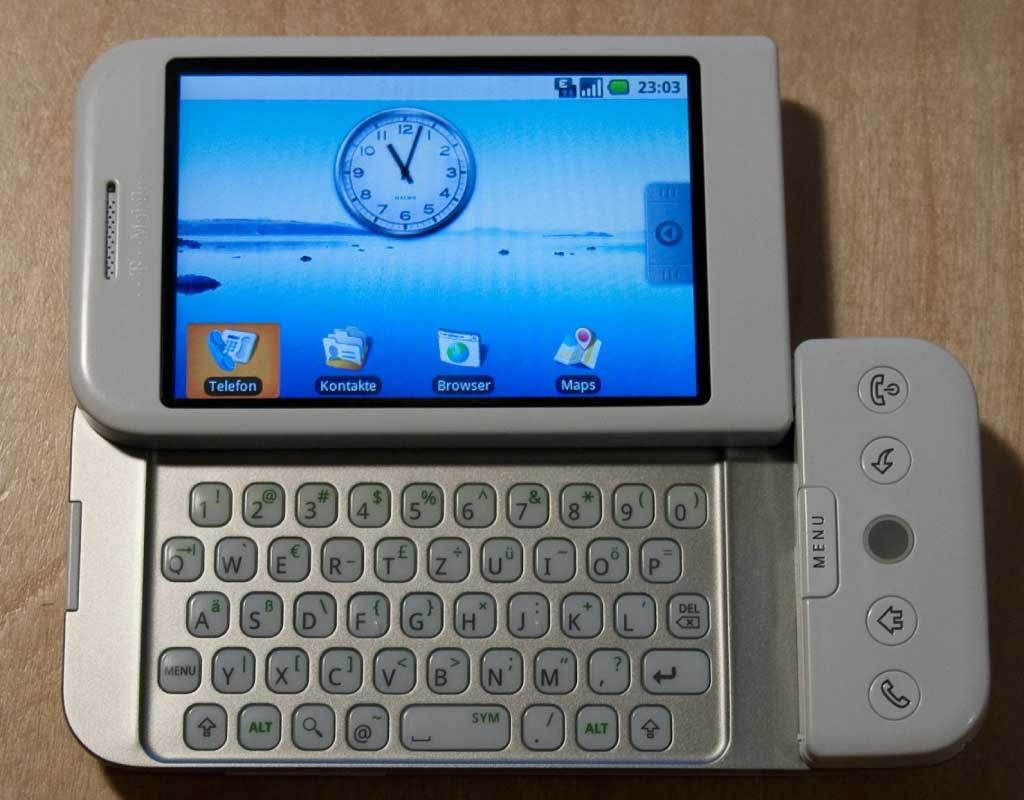 HTC Dream is the first #smartphones powered by #android
