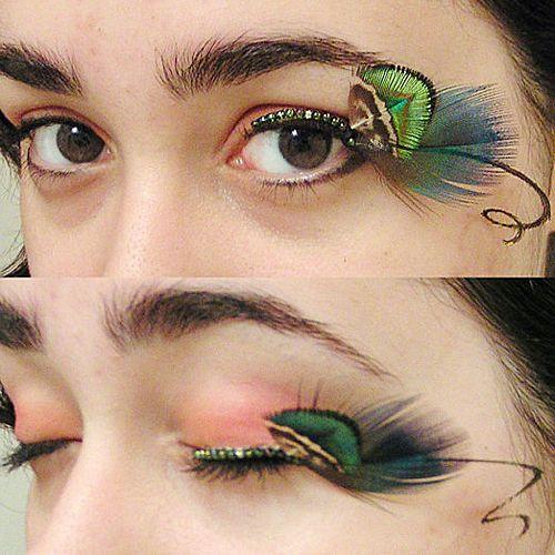 fd331207c15 Peacock Feathers and Fake Eyelashes | Feather Eyelashes | Feather ...