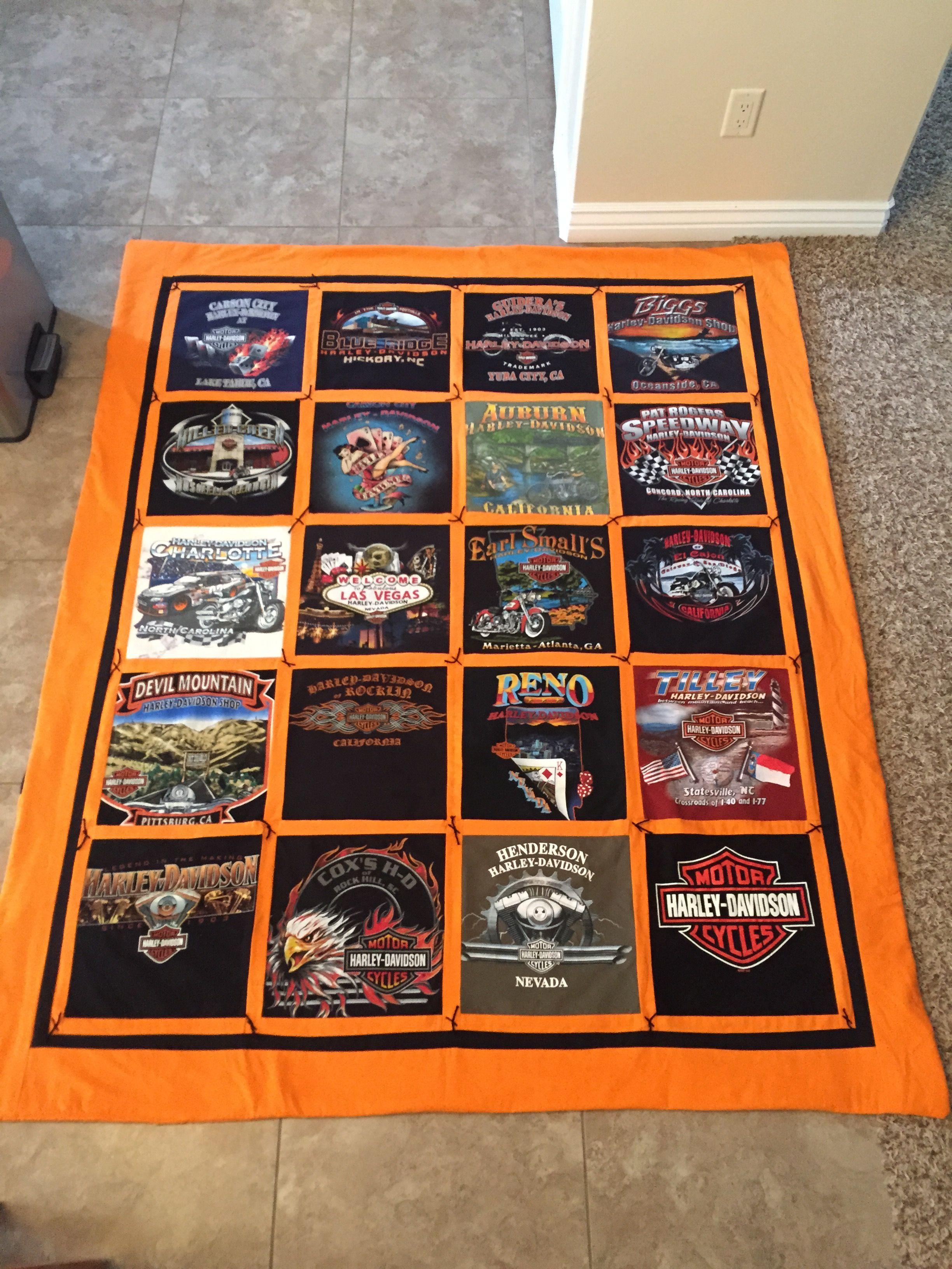 Harley Davidson T Shirt Quilt Shirt Quilt Harley T Shirts Tshirt Quilt Pattern [ 3264 x 2448 Pixel ]