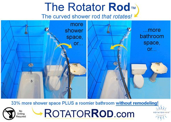 Straight Vs Curved Shower Rods Shower Rod Space Saving
