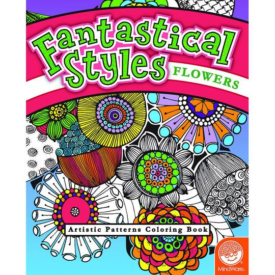 Fantastical Styles™ Flowers Artistic Patterns Coloring Book
