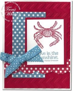 Stampin' Up! By the Seashore stamp set crab card