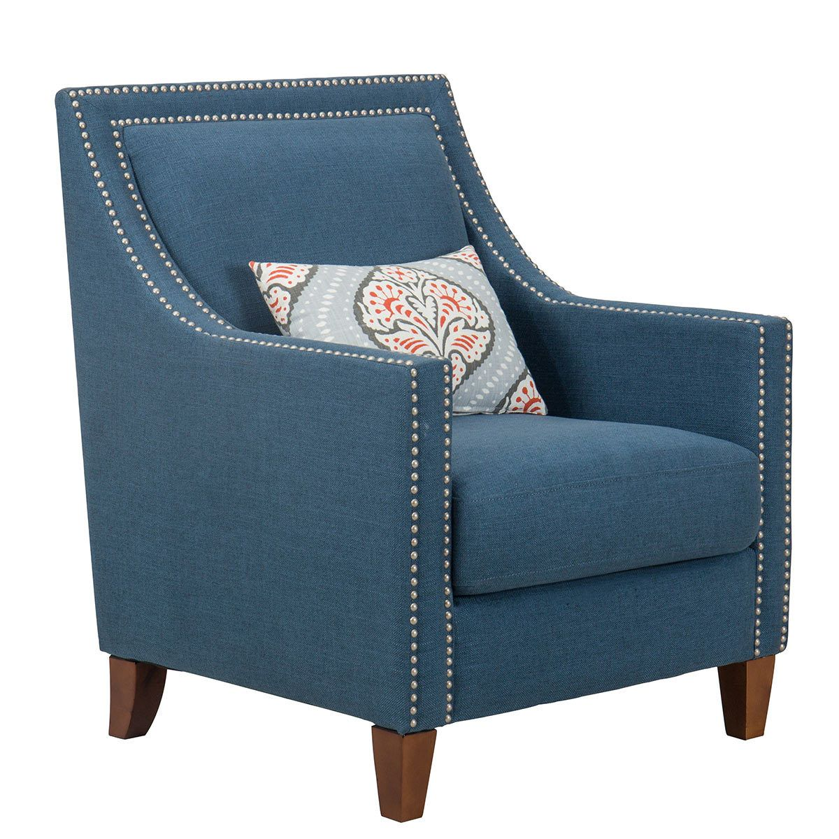Accent Chairs At Costco Homepop Blue Fabric Chair With Accent Pillow Dream House