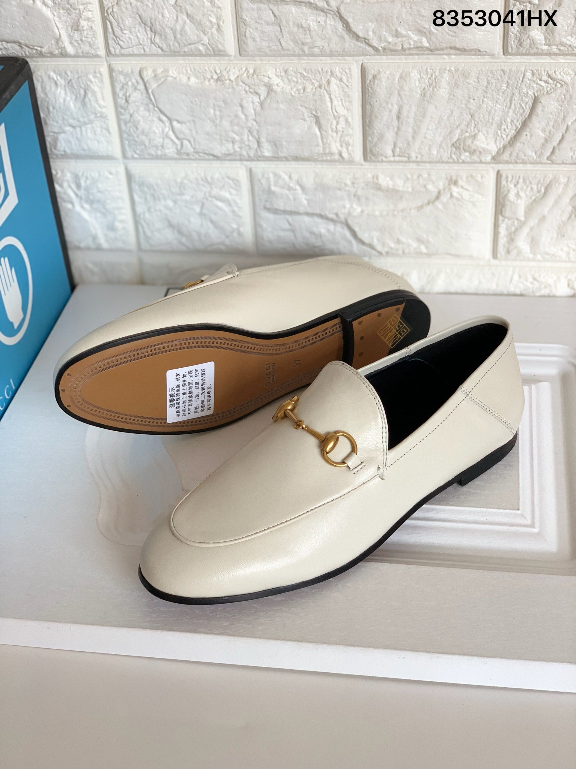Gucci Jordaan leather loafers step on