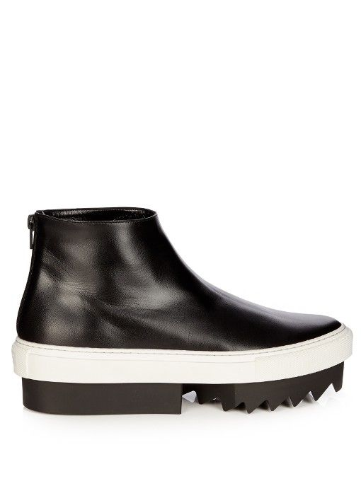 GIVENCHY Leather Platform Boots. #givenchy #shoes #boots