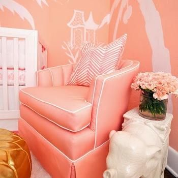 Pink Accent Chair, Hollywood Regency, Nursery, Sherwin Williams ...