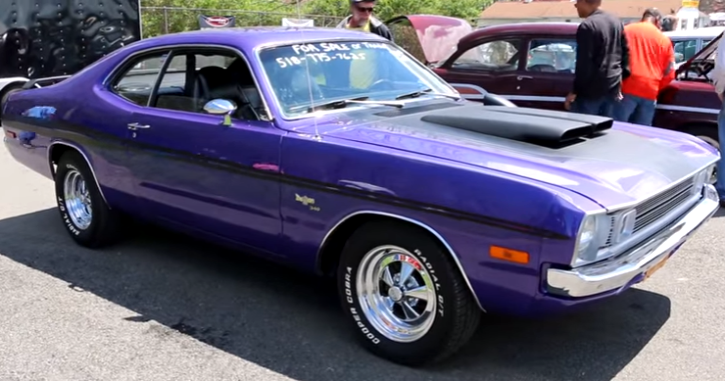 Plum Crazy 1972 Dodge Demon 340 H Code Review 1972 Dodge Demon Muscle Cars Mopar Muscle Cars