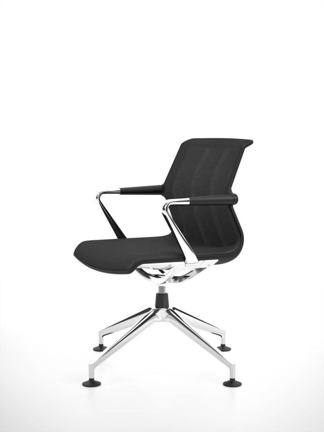 schwarz Bürostuhl-Design Armlehnen-MetallRahmen antonio-citterio - burostuhl design arbeitsplatz nach geschmack gestalten