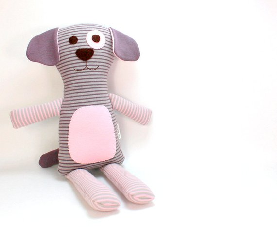 Plush Toy Dog Organic Plush Dog Stuffed Animal Dog Eco