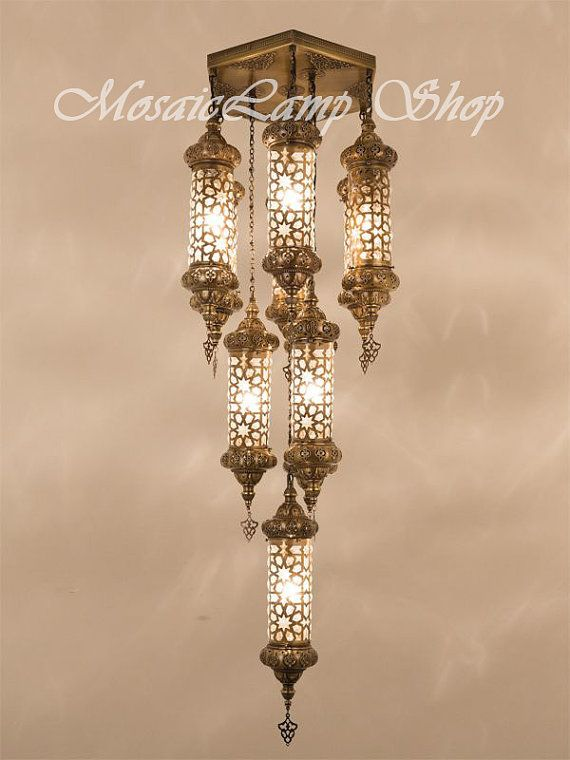 OTTOMAN Laser Cut Large CHANDELIER Metal Moroccan Lantern ChandelierTurkish