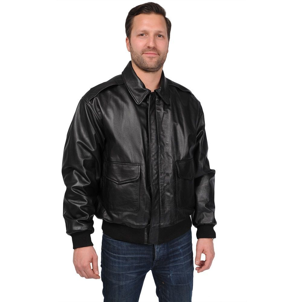 Overstock Com Online Shopping Bedding Furniture Electronics Jewelry Clothing More Leather Jacket Men Classic Bomber Jacket Bomber Jacket [ 1000 x 1000 Pixel ]