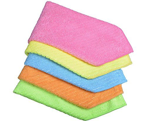 Sinland Household Multipurpose Microfiber Cleaning Cloths Kitchen Cloth With Stripe 12x12 5 Pack Details Can Be Found By Clicking On The Image