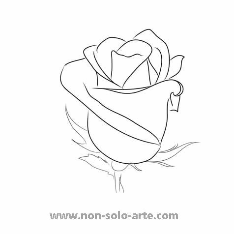 Rose Silhouette Roses Drawing Rose Outline Rose Outline Drawing