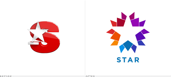 Star Tv Logo Negativespace Colorful Graphic Design Firms Typography Branding Tv Stars