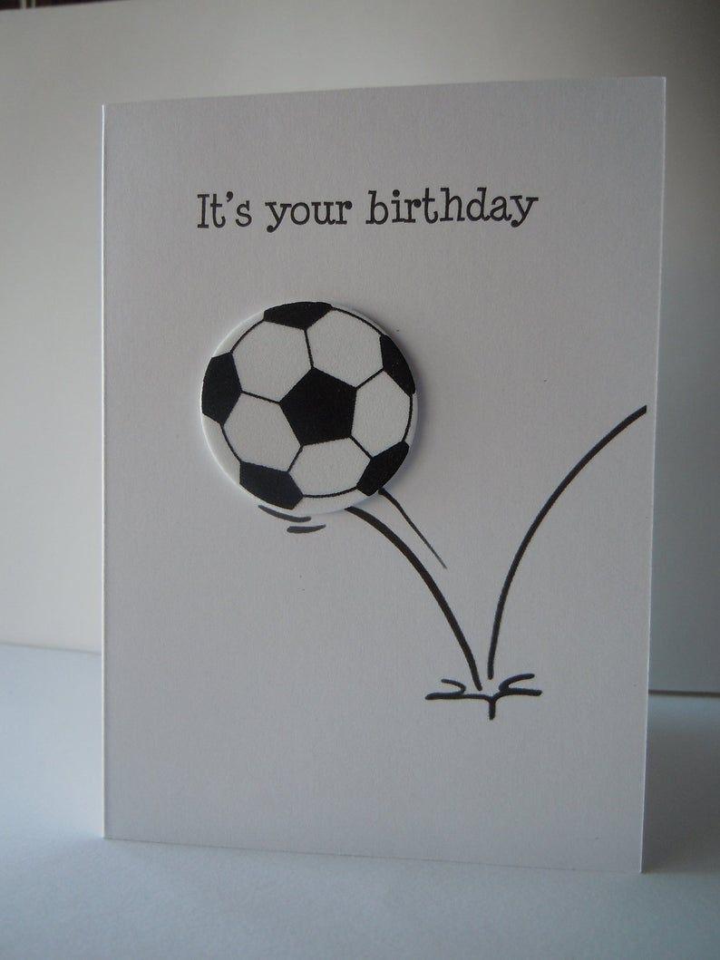 Fussball Ball Geburtstagskarte Fussball Geburtstagskarte