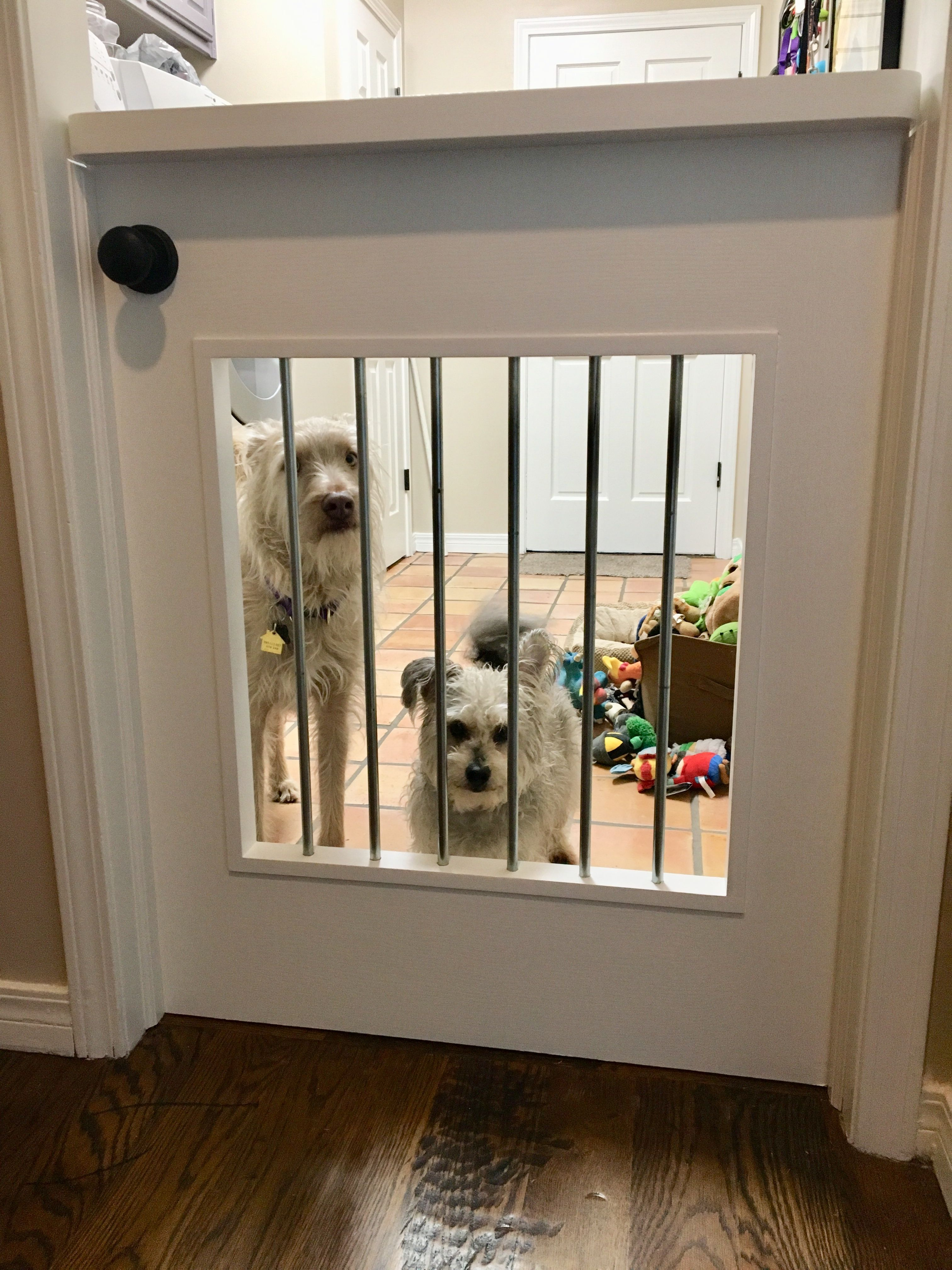 13 Diy Dog Gate Ideas: Took An Existing Door