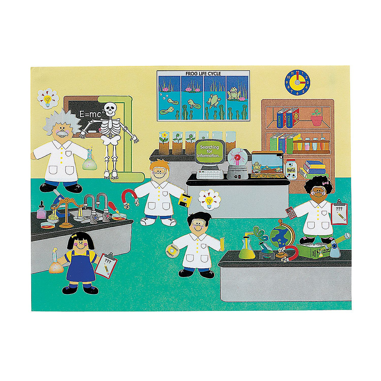 12 Diy Super Science Lab Sticker Scenes