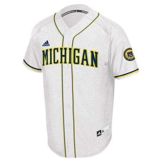Michigan Athletics Game Day Swag For Him Adidas University Of Michigan Baseball White Premier University Of Michigan Baseball Michigan Athletics White Jersey