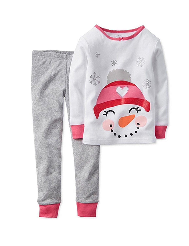 Child Girls Boy PJs Pajamas Nightwear Xmas Christmas Pyjamas for Age 1-7 Yrs