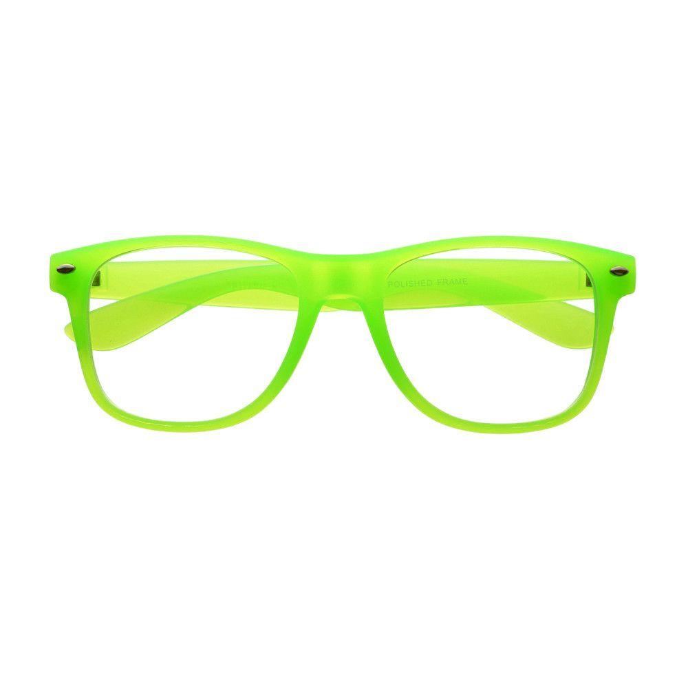 Clear Lens Party Style Square Wayfarer Glasses Frames Retro Vintage Mens Womens Neon Green Party Fashion Cool Glasses Eyeglasses Frames
